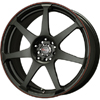Drag DR 33 Flat Black w Red Stripe 17 X 7.5 Inch Wheels