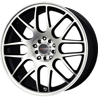 Drag DR 34 Flat Black Machined Face Wheel Packages