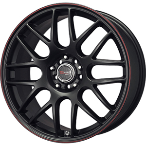 Drag DR 34 Flat Black w Red Stripe 18 X 8 Inch Wheels