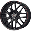 Drag DR 34 Flat Black w Red Stripe 17 X 7.5 Inch Wheels
