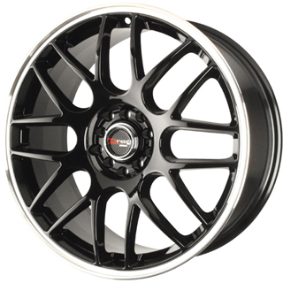 Drag DR 34 Gloss Black Machined Lip Wheel Packages
