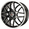 Drag DR 34 Gloss Black Machined Lip 17 X 7.5 Inch Wheels