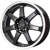Drag DR 35 Gloss Black Machined Lip 17 X 7.5 Inch Wheels