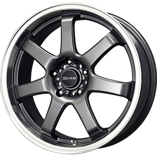 Drag DR 35 Gun Metal Machined Lip Wheel Packages