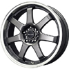 Drag DR 35 Gun Metal Machined Lip 17 X 7.5 Inch Wheels