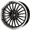 Drag DR 36 Gloss Black Machined Lip 17 X 7.5 Inch Wheels