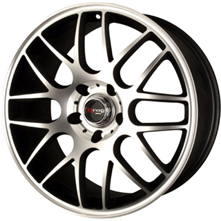 Drag DR 37 Flat Black Machined Face Wheel Packages