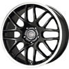 Drag DR 37 Gloss Black Machined Lip 17 X 7.5 Inch Wheels