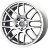 Drag DR 37 Silver Machined Lip 17 X 7.5 Inch Wheels