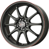 Drag DR 9 Black w Red Stripe 17 X 7 Inch Wheels
