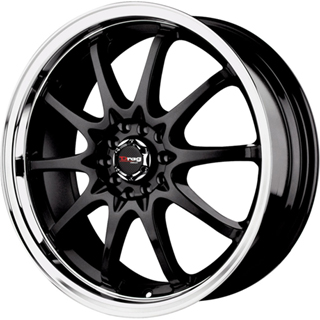 Drag DR 9 Gloss Black Machined Lip Wheel Packages