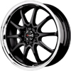 Drag DR 9 Gloss Black Machined Lip 17 X 7 Inch Wheels