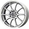 Drag DR 9 Silver Machined Lip 17 X 7 Inch Wheels