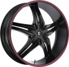 Fiero Number 15 26X9.5 Black with Red Stripe