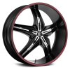 Fiero Number 15 26X9.5 Gloss Black with Red Lip