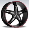 Fiero Number 5 18X7.5 Black