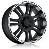 Forza 306 17X9 Black Machined