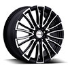 Forza 310 Black with Machined Face 17 X 7 Inch Wheel
