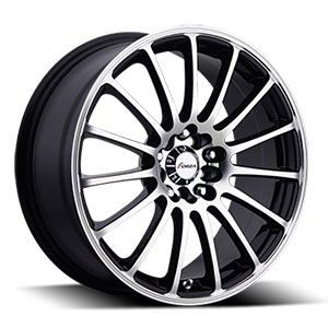 Forza 311 Black with Machined Face 18 X 7.5 IInch Wheel