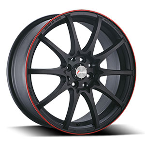 Forza 315 Black with Red Stripe 18 X 7.5  Inch Wheel