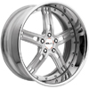 GFG Baghdad 5 Brushed Machined 24 X 10 Inch Wheels