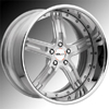 GFG Baghdad 5 Chrome 24 X 10 Inch Wheels