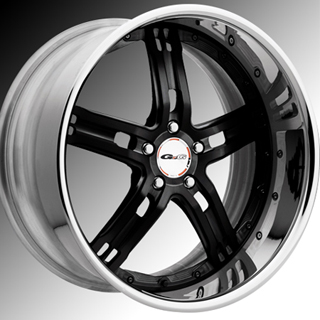 GFG Baghdad 5 Matte Black Wheel Packages