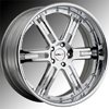 GFG Baghdad 6 Chrome 24 X 10 Inch Wheels