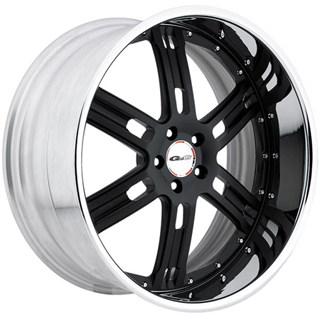 GFG Baghdad 6 Matte Black Wheel Packages