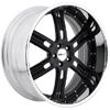 GFG Baghdad 6 Matte Black 24 X 10 Inch Wheels