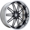 GFG Laguna Black 22 X 8 Inch Wheels