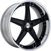 GFG Nice 5 Black 22 X 8 Inch Wheels