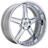 GFG Nice 5 Chrome 22 X 8 Inch Wheels