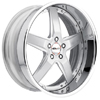 GFG Nice 5 Machined 22 X 8 Inch Wheels
