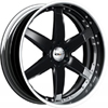 GFG Nice 6 Black 24 X 9 Inch Wheels