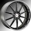 GFG Tel Aviv Matte Black 22 X 8 Inch Wheels