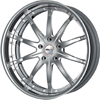 GFG Tel Aviv Brushed Machined 22 X 8 Inch Wheels