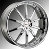 GFG Tel Aviv Chrome 24 X 9 Inch Wheels
