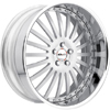 GFG Torino Brushed Machined 22 X 8 Inch Wheels
