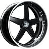 GFG Tripoli 5 Black 22 X 9 Inch Wheels