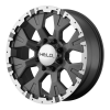 Helo HE878 17X9 Dark Silver With Machined Flange