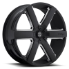 II Crave Number 31 26X9.5 Satin Black with Chrome Inserts