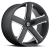 II Crave Number 35 20X8.5 Black with Chrome Inserts