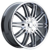 Incubus 821 Prisa Chrome 17 X 7.5 Inch Wheel