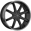 Incubus 840 Empire Black Machined 20 X 8.5 Inch Wheel