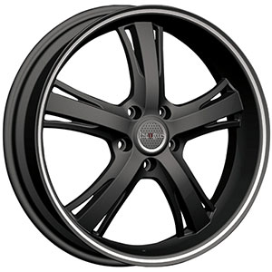 Incubus 952 Raven Flat Black Machined 18 X 8 Inch Wheel