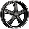 Incubus 952 Raven Gloss Black Machined 18 X 8 Inch Wheel