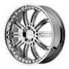 KMC KM127 Dime 26X10 Chrome Plated