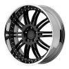 KMC KM127 Dime 22X9.5 Gloss Black Machined