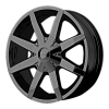 KMC KM650 Slide Fwd 16X7 Black